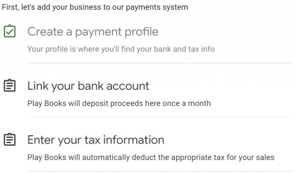 setarea profilului payment